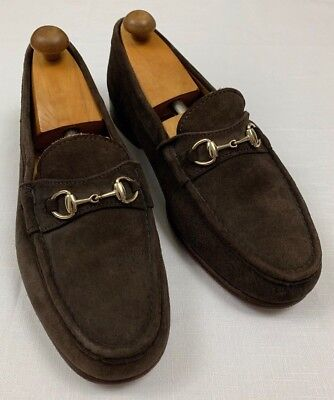 ff7d5b345f9 ALDEN horsebit suede leather loafer shoes sz 10 3E brown cape cod collection