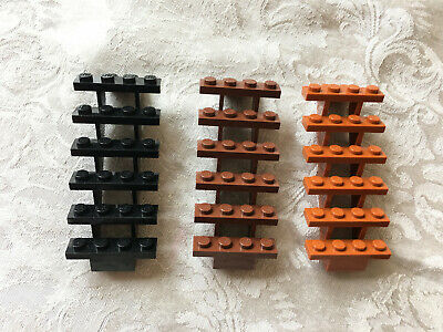 House Minifigure Set of Stairs 7 x 4 x 6 Straight Open BLACK LEGO Castle