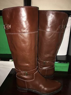 d23582abc65 WOMENS ENZO ANGIOLINI black leather knee high riding boots sz. 6, 7 ...
