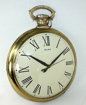 Large United Clock Corp. Electric Pocket Watch Clock - Tb185