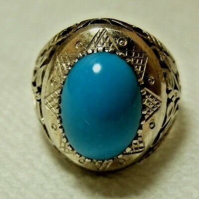 Natural Native Tribal Turquoise 925 Silver ring 9.10-gm sizes us:9.5