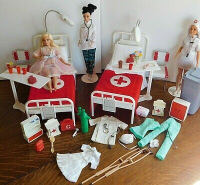 Vintage Barbie Furniture Hospital Diorama 199 99 Picclick