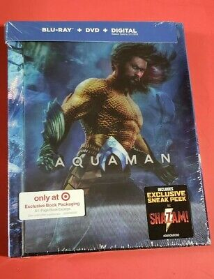 Aquaman 2019 Target Exclusive Limited Edition Blu-ray/DVD/Dig + 64 pg Book 3/26