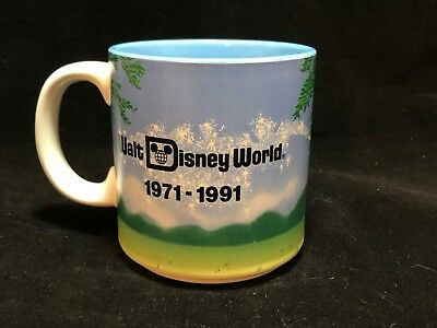 Walt Disney World 20th Anniversary Mickey 1971-1991 Coffee Mug/Cup