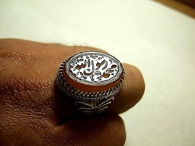 Natural Persian Yemen carnelian Engraved Men ring 18.60-gm size us:10