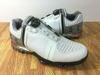 0d4c5fa2607c Under Armour Spieth One BOA Golf Shoes 1292754-100 White Grey SIZE 7