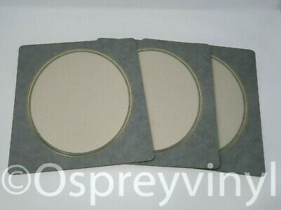 "#31 3x Gem Collection Strut Mount Oval Window Grey/Gold Embossed 8x10"" Photo"