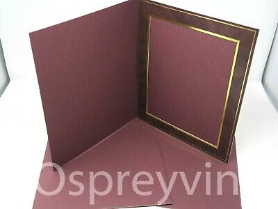 "#37 3x Spicer Hallfield Luxury Slip-In Mount Burgundy/Gold 8x10"" Top Quality"
