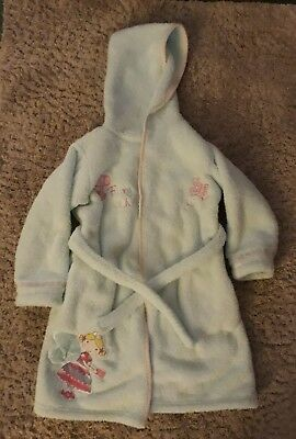 Girls M & S Embroidered Dressing Gown Age 5-6 Excellent Condition