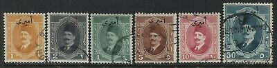 Egypt various 1924 Officials to 50 milliemes used