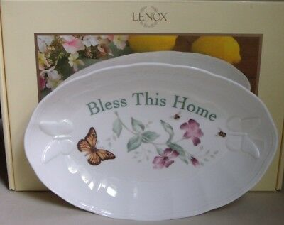 Lenox Butterfly Meadow Bless This Home Tray Plate NIB