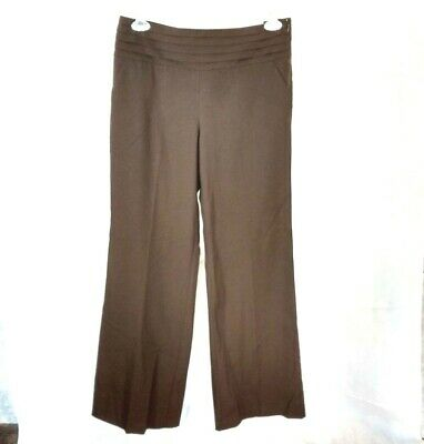 e897683309 Cato Pants Career Women Size 10 Brown Wide Leg Contemporary Lower Rise NEW