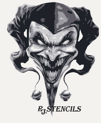 Multilayer STEP BY STEP airbrush stencil JESTER
