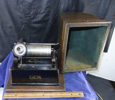 Antique Edison Gem Cylinder Phonograph Model C Reproducer For Part or Repair