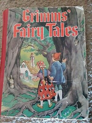 Vintage 1934 Illustrated Children's Book GRIMM'S FAIRY TALES hardcover