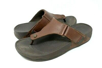 aa821b110b7d FITFLOP TRAKK II Mens Brown Leather Thong Sandals Size 12 -  26.24 ...