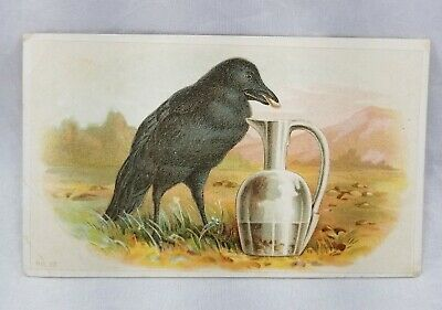 Victorian Trade Card Wright's Indian Vegetable Pills Crow Pitcher Opium   -L-