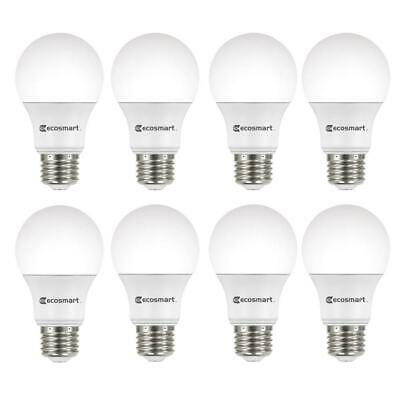 EcoSmart A19Non-Dimmable LED Light Bulb Daylight-60w (8-Pack)