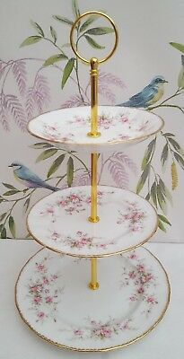 "Paragon /  Royal Albert ""Victoriana Rose"" 3-tier cake stand ***PRICE REDUCED***"