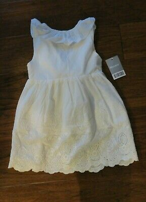 5b609a446a Hurave Baby Girl Infant White Lightweight Cotton Eyelet Dress - Size 3 NWT