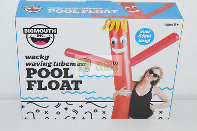Waving Wacky Tube Man, Red Over 6FT Long Inflatable Pool Float Toy Lot of 4