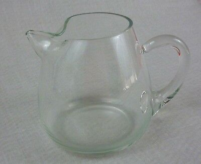 """Small Round Clear Glass Pitcher with Handle / 4.5 cup (36 oz) capacity / 5"""" tall"""