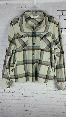 3e8372e7 Woolrich Women's Flannel Shirt Plaid With Pockets Button Down Size Medium
