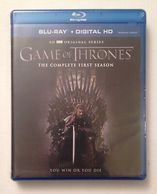 GAME OF THRONES: Complete First Season MINT NEW 5-DISC BLU-RAY SET!!