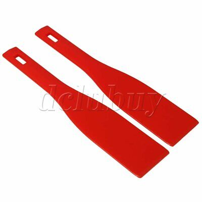 2PCS Red 11.41x2.36 inches Spatula Ink Scoop Silk Screen Printing Shovel