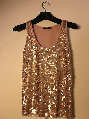 f9eb3d62 APT 9 SEQUIN Rose Gold Tank Top - Camisole - Size Large - $15.50 ...