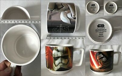 3 x Lucasfilm STAR WARS FORCE AWAKENS Mugs Not Boxed but all VGC