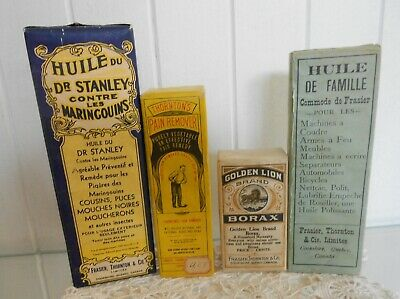 Vintage Lot of 4 x 1920s Shop Display Packets Frasier, Thornton & Co Ltd Canada
