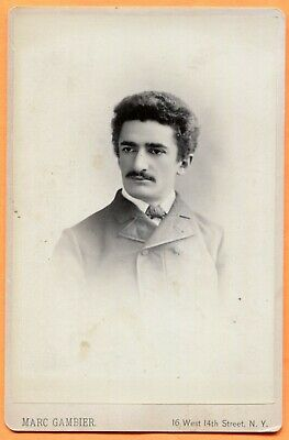New York, NY, Portrait of a Young Man, by Gambier, circa 1880s Backstamp