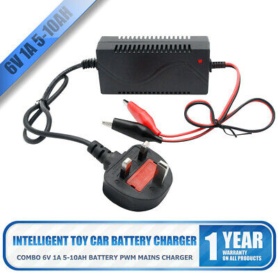 6V 1A 7Ah Sealed Lead Acid Car Rechargeable Battery Charger Adapter Output 7.5V