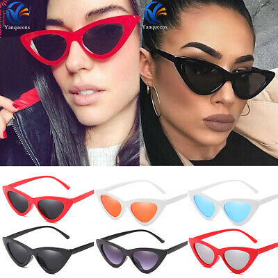 Women Vintage Cat Eye Sunglasses Retro Classic Designer Fashion Shades Eyewear