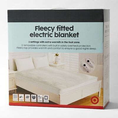 NEW Fleecy Fitted Electric Blanket