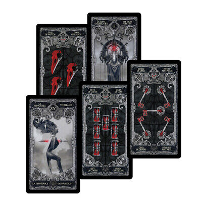 78Pcs Dark Tarot Cards Deck Mysterious Divination Personal Board Game 103*60mm