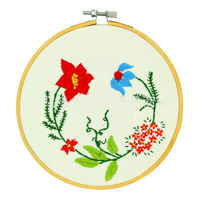 36/40cm Bamboo Frame Embroidery Hoop Ring DIY Cross Stitch Machine Loop Sewin JS