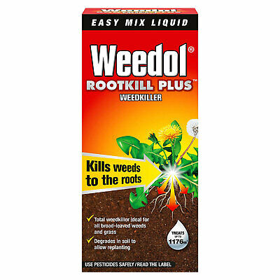 Weedol Rootkill Plus Weedkiller 1L Easy Mix Liquid Fast Acting Concentrate