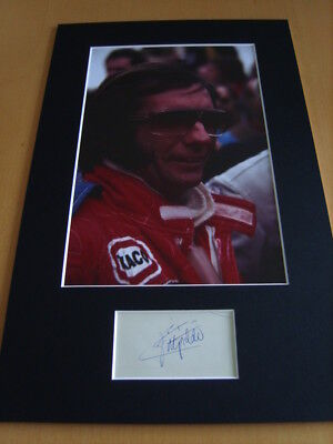 Emerson Fittipaldi Genuine signed authentic autograph - UACC / AFTAL.