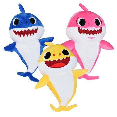 Soft Dolls Shark toy Cute Baby Plush Singing Toys Music Song Doll English Song