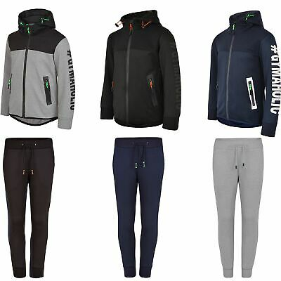 Kids Ripple Panel Jacket or Trousers Boys Girls Reverse Zip Joggers 3-14 Years