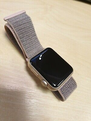 separation shoes 97548 a5660 APPLE WATCH SERIES 1 38mm Rose Gold Aluminium Case Pink Sand Sport Band -  (MNNH…