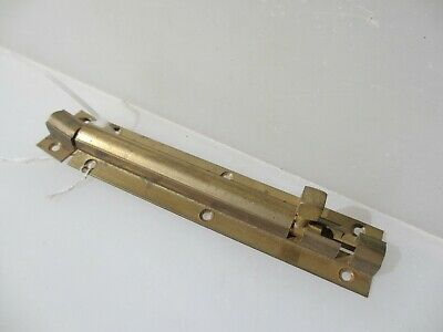 "Brass Door Lock Bolt Bathroom Lock WC Toilet Old Retro - Modern     6.75""L"