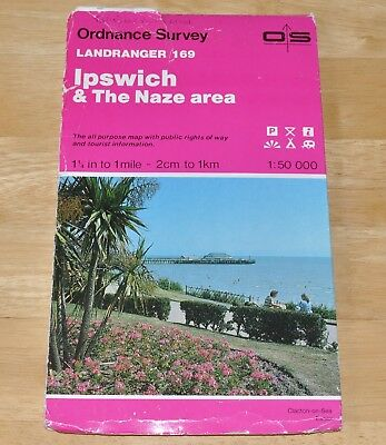 Ordnance Survey Landranger Map 169 Ipswich & The Naze Area