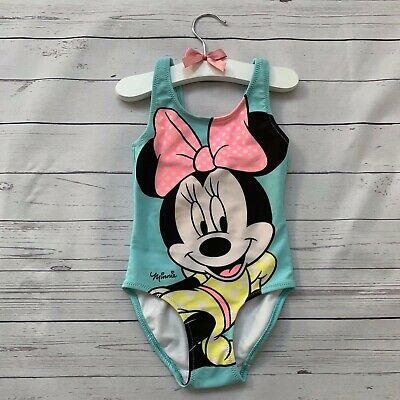 Baby Girls 12-18 Months - Swim Suit - H&M Minnie Mouse Swimming Costume Holiday