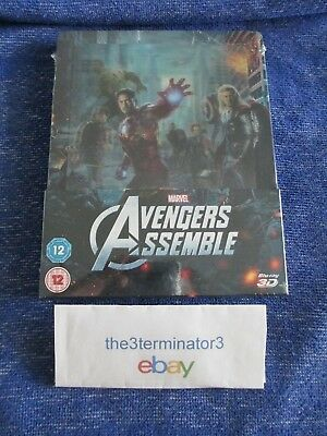 The Avengers 3D/2D Blu-ray ZAVVI Lenticular Limited STEELBOOK OOP MINT Marvel