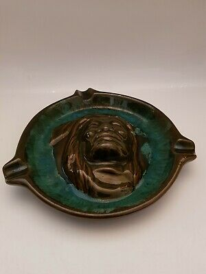 Vintage Canadian Mcmaster Pottery Ash Tray Indian Head