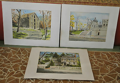 Lot of 3 VINTAGE GRAY'S WATERCOLOR SIGNED DAVIS GRAY MUST SEE!