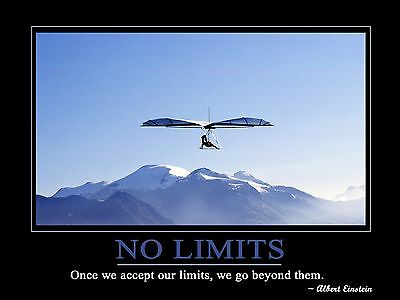 "Art Print ""No Limits"" Motivation Inspiration Poster Albert Einstein"